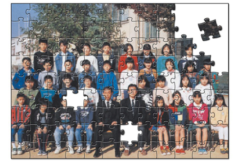 想い出のお写真をパズルにできます。
