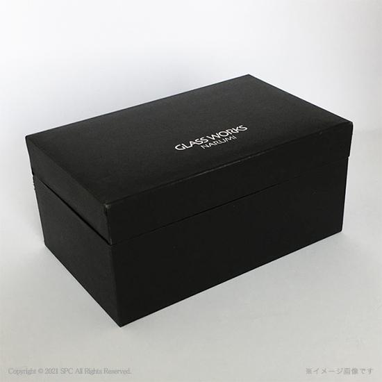 グラスワークスナルミ【ブルーアース】デスククロック(S)