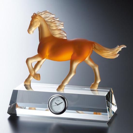 グラスワークスナルミ 【馬】 フィギュアクロック(アンバー)