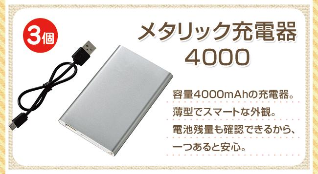 メタリック充電器 4000
