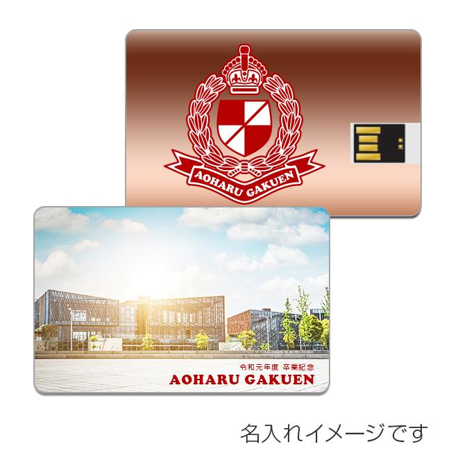 名入れUSBメモリ:カード型USBメモリ(両面フルカラー印刷)画像