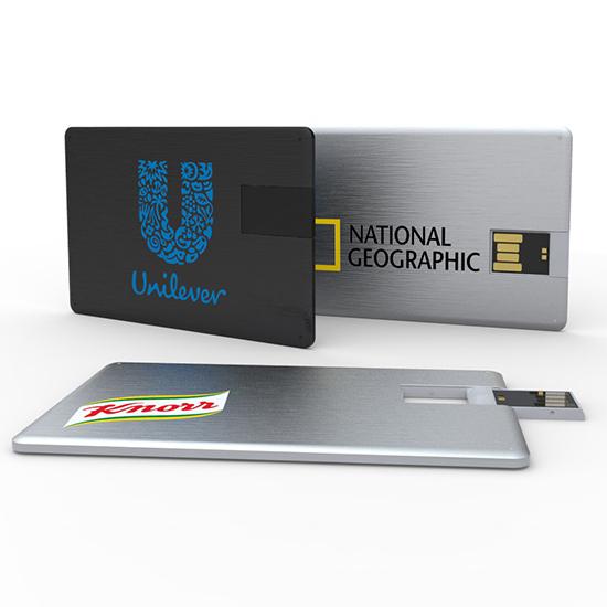 名入れUSBメモリ:カード型USBメモリ(アルミタイプ)画像1