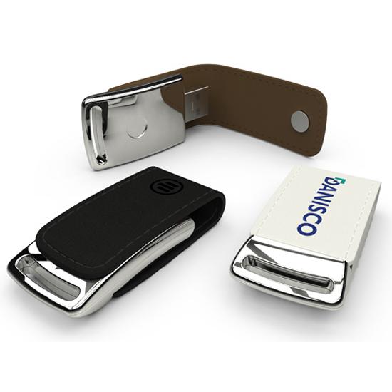 名入れUSBメモリ:レザーカバー型USBメモリ画像1